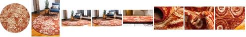 Bridgeport Home Jasia Jas02 Terracotta 8' x 8' Round Area Rug