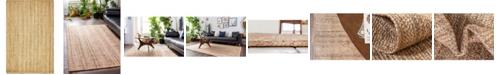 Bridgeport Home Braided Jute C Bjc5 Natural 5' x 8' Area Rug