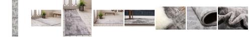 Bridgeport Home Basha Bas6 Dark Gray 2' x 13' Runner Area Rug