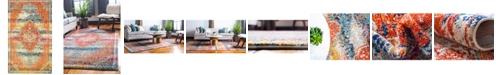 Bridgeport Home Brio Bri5 Multi 5' x 8' Area Rug