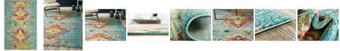 Bridgeport Home Brio Bri9 Turquoise 4' x 6' Area Rug