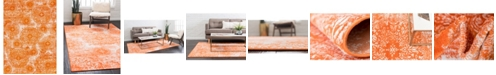 Bridgeport Home Basha Bas7 Orange 7' x 10' Area Rug