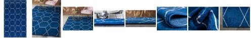 Bridgeport Home Plexity Plx1 Navy Blue 5' x 8' Area Rug