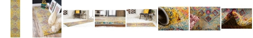 "Bridgeport Home Brio Bri1 Yellow 2' 7"" x 10' Runner Area Rug"