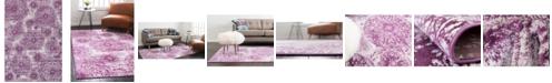 Bridgeport Home Basha Bas7 Purple 7' x 10' Area Rug