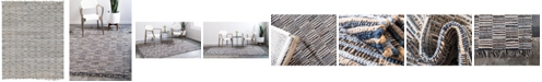 "Bridgeport Home Jari Checkered Jar3 Blue 8' x 11' 4"" Area Rug"