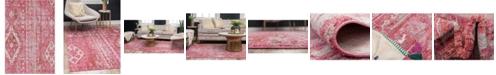 Bridgeport Home Nira Nir2 Pink 4' x 6' Area Rug