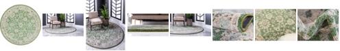 Bridgeport Home Lorem Lor3 Green 6' x 6' Round Area Rug