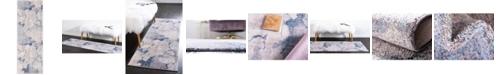 Bridgeport Home Prizem Shag Prz4 Blue Gray 2' x 6' Runner Area Rug