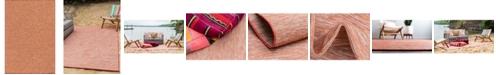 "Bridgeport Home Pashio Pas8 Terracotta 6' 3"" x 9' Area Rug"