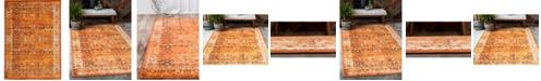 Bridgeport Home Linport Lin1 Terracotta/Ivory 7' x 10' Area Rug