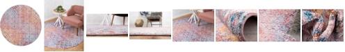 "Bridgeport Home Prizem Shag Prz2 Lilac 3' 3"" x 3' 3"" Round Area Rug"