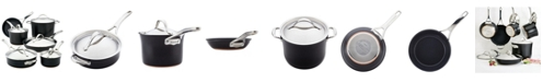 Anolon Nouvelle Copper Luxe Onyx Hard-Anodized Nonstick 11-Pc. Cookware Set