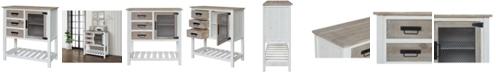 Gallerie Decor Farmington Three Drawer One Door Cabinet