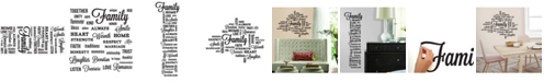York Wallcoverings Family Quote Peel and Stick Wall Decals