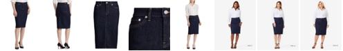 Lauren Ralph Lauren Straight-Cut Denim Skirt