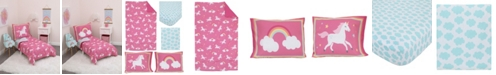 Carter's Rainbows and Unicorns 4-Piece Toddler Bedding Set