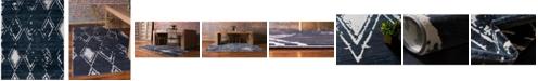 Jill Zarin Carnegie Hill Uptown Jzu006 Navy Blue 8' x 10' Area Rug