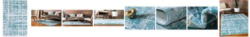 Jill Zarin Lexington Avenue Uptown Jzu003 Turquoise 4' x 6' Area Rug