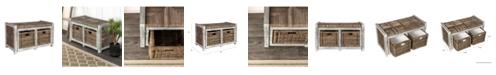 "Furniture Rustic 30"" Storage Bench"