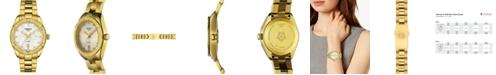 Tissot Women's Swiss PR 100 Sport Chic T-Classic Diamond (1/20 ct. t.w.) Gold-Tone Stainless Steel Bracelet Watch 36mm