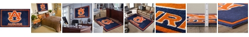 """Luxury Sports Rugs Auburn Colau Blue 1'8"""" x 2'6"""" Area Rug"""