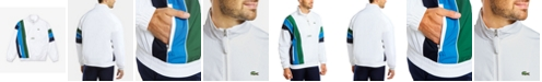 Lacoste Men's SPORT Water-Repellent Colorblocked Parka Jacket with Vertical Stripes