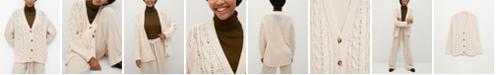 MANGO Women's Openwork Knit Cardigan