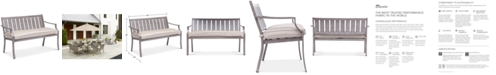 Furniture Wayland Outdoor Bench with Sunbrella® Cushion, Created for Macy's