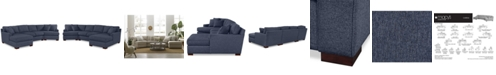 Furniture Carena 3-Pc. Fabric Sectional Sofa with Cuddler Chaise - Custom Colors, Created for Macy's