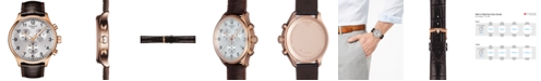 Tissot Men's Swiss Chronograph Chrono XL Classic T-Sport Brown Leather Strap Watch 45mm