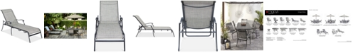 Furniture Vintage II Outdoor Sling Chaise Lounge, Created for Macy's