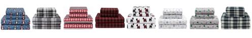 Elite Home Winter Nights Cotton Flannel Full Sheet Set