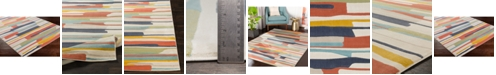 """Abbie & Allie Rugs City CIT-2339 Coral 18"""" Area Rug Swatch"""