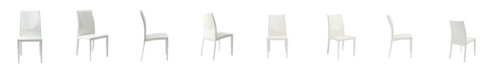 Euro Style Dafney Side Chair in Leather - Set Of 2