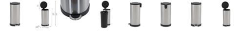 Household Essentials Stainless Steel 30L Windsor Round Step Trash Bin