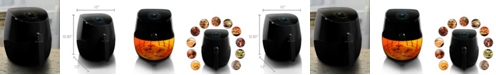 MegaChef 3.5 Quart Airfryer and Multicooker with 7 Pre-Programmed Settings in Sleek Black