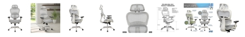RTA Products Techni Mobili High Back Mesh Office Executive Chair, Quick Ship