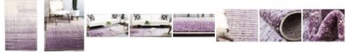 Bridgeport Home Lyon Lyo2 Purple 5' x 8' Area Rug