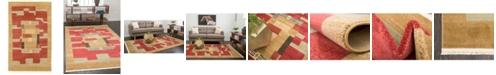 """Bridgeport Home Ojas Oja2 Rust Red 3' 3"""" x 5' 3"""" Area Rug"""