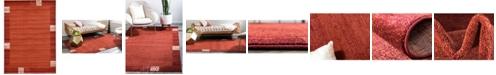 Bridgeport Home Lyon Lyo1 Rust Red 7' x 10' Area Rug