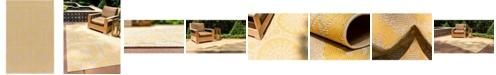 "Bridgeport Home Pashio Pas5 Yellow 5' 3"" x 8' Area Rug"