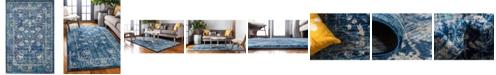 Bridgeport Home Masha Mas3 Navy Blue 6' x 9' Area Rug