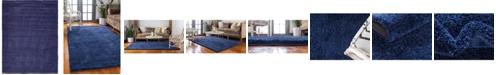 Bridgeport Home Uno Uno1 Navy Blue 10' x 13' Area Rug