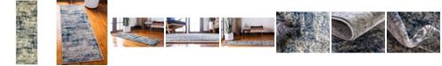 Bridgeport Home Marblesea Mrb4 Gray 2' x 6' Runner Area Rug