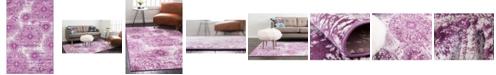 Bridgeport Home Basha Bas7 Purple 5' x 8' Area Rug