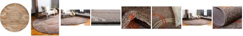 Bridgeport Home Jasia Jas05 Light Brown 8' x 8' Round Area Rug