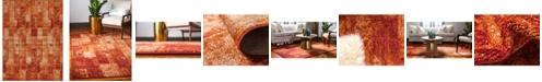 Bridgeport Home Jasia Jas07 Terracotta 9' x 12' Area Rug