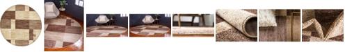 Bridgeport Home Jasia Jas14 Beige 8' x 8' Round Area Rug