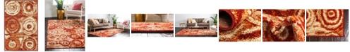 Bridgeport Home Jasia Jas02 Terracotta 2' x 3' Area Rug